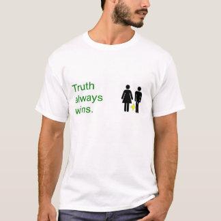 Vitórias da verdade. Casamento tradicional do Camiseta