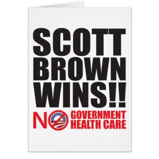 Vitórias de Scott Brown! Cartão