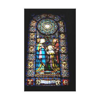 Vitral no impressão das canvas de Montserrat