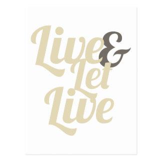 Viva e Deixe Viver Cartão Postal
