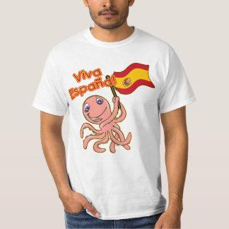 Viva Espana com o Tshirt do futebol do polvo
