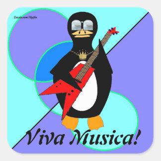 Viva Musica Adesivo Quadrado