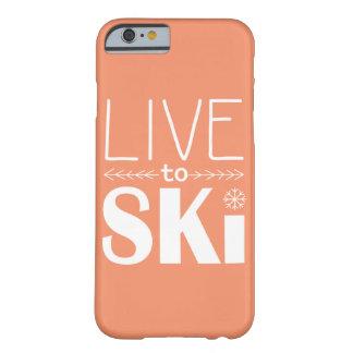 Viva para esquiar laranja da capa de telefone