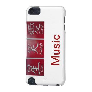 Vive a música do amor do riso capa para iPod touch 5G