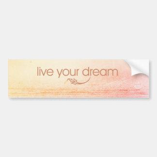 Vive seu sonho adesivo para carro
