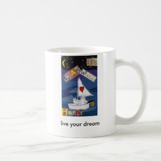 vive seu sonho caneca de café