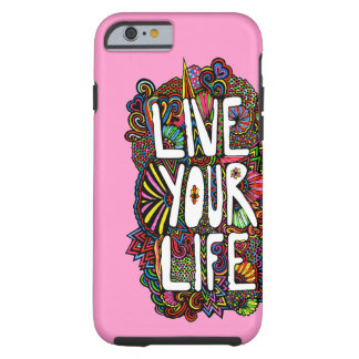Vive sua vida - cor capa tough para iPhone 6