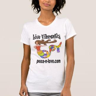 Vive Vibrantly o t-shirt do promocional da sereia