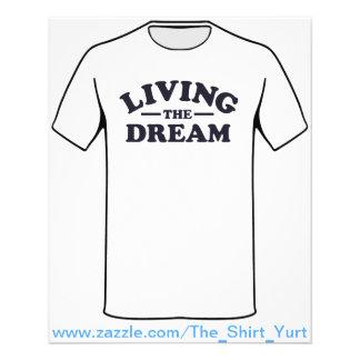Vivendo o sonho flyer 11.43 x 14.22cm