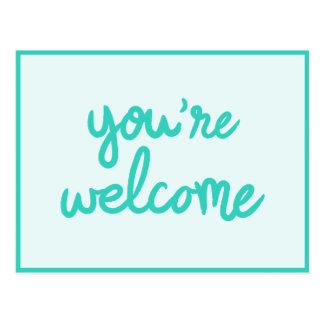Você é bem-vindo! cartão postal