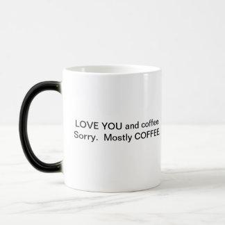 Você e café caneca transmutação