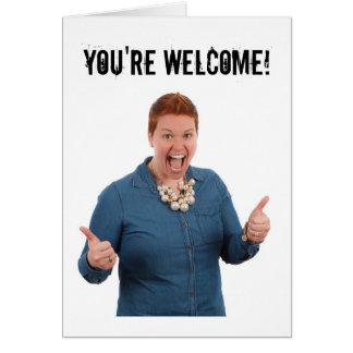 Você é cartão bem-vindo