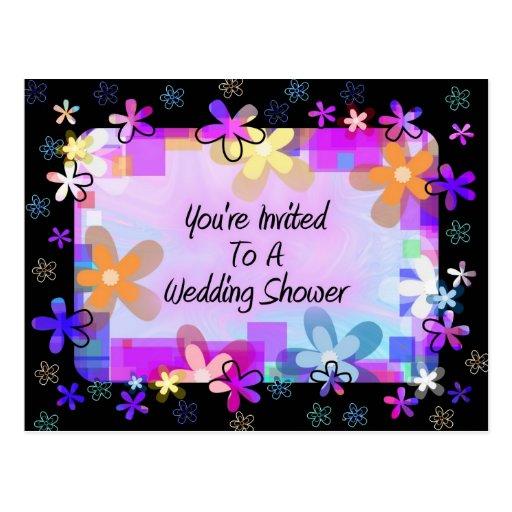 Você é convidado a um chá de casamento cartoes postais