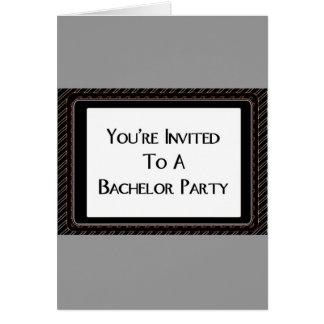 Você é convidado a um despedida de solteiro cartão comemorativo