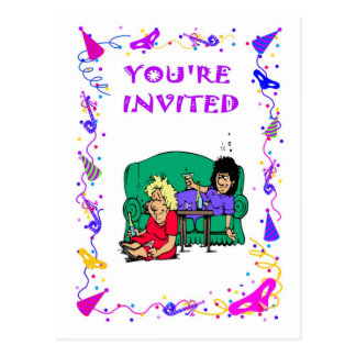 Você é convidado, partido de galinha cartão postal