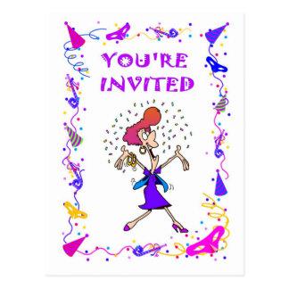 Você é convidado, senhora do partytime cartoes postais