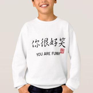 Você é engraçado - caráteres chineses tshirt