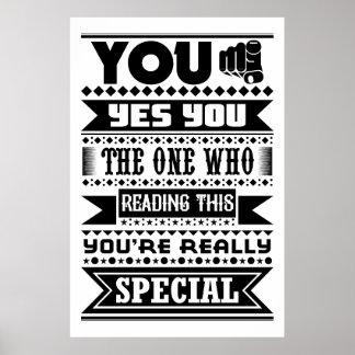 Você é especial (as citações inspiradores) póster