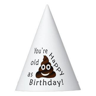 Você é idoso como… o emoji engraçado do tombadilho chapéu de festa