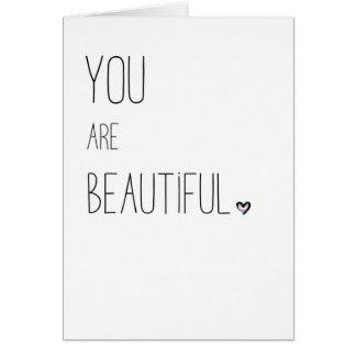 Você é - LGBT - coração bonito da bandeira do Cartão