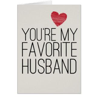 Você é meu cartão engraçado do amor do marido favo