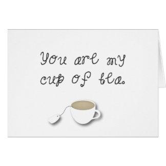 Você é meu copo do *Love* Indie romântico do Cartão Comemorativo