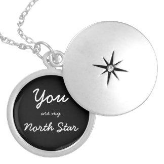 Você é meu locket da estrela norte colar banhado a prata