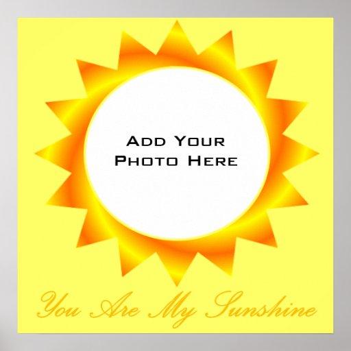Você é meu modelo da foto da luz do sol posters