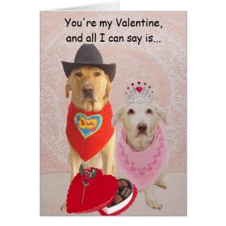 Você é meus namorados,… cartão comemorativo