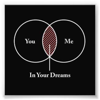 Você e mim em seu diagrama de Venn dos sonhos Impressão De Foto