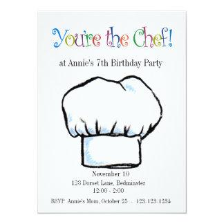 Você é o convite do cozinheiro chefe