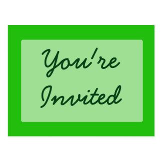 você é verde convidado cartão postal