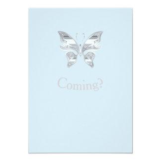 Você está vindo borboleta? convite 12.7 x 17.78cm