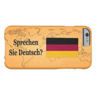 Você fala o alemão? no alemão. FB da bandeira Capa Barely There Para iPhone 6