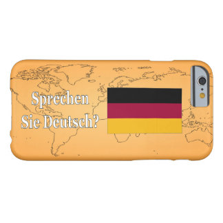 Você fala o alemão? no alemão. Wf da bandeira Capa Barely There Para iPhone 6