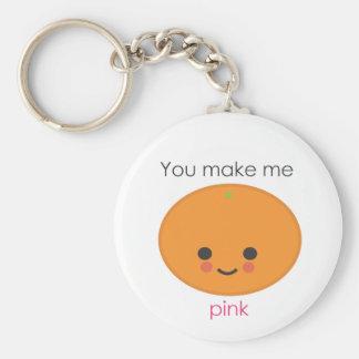 Você faz-me cor-de-rosa - laranja chaveiro