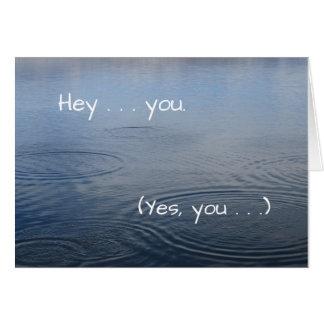Você faz uma diferença (obrigados) - cartão
