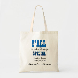 Você fez esta sacola do presente de casamento do sacola tote budget