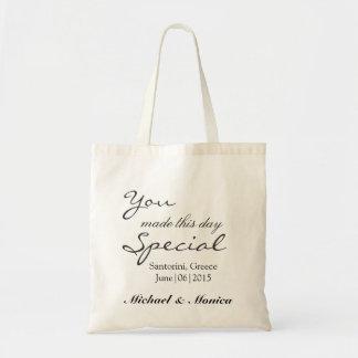 Você fez esta sacola do presente do hotel do sacola tote budget