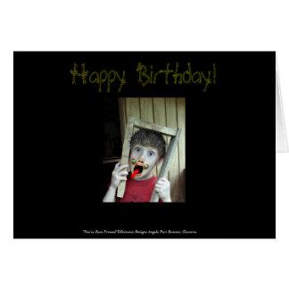 Você foi cartão de aniversário quadro