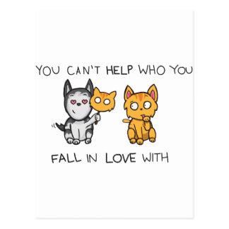 Você não pode ajudar quem você cai no amor com cartão postal