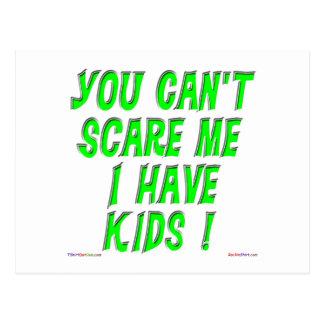 Você não pode susto mim mim ter miúdos! Cartão