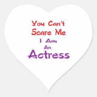 Você não pode susto mim que eu sou uma actriz adesivo coração