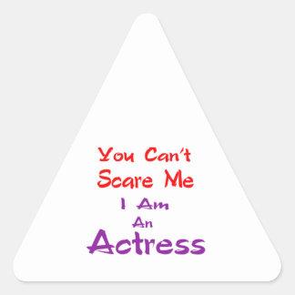Você não pode susto mim que eu sou uma actriz adesivo triangular