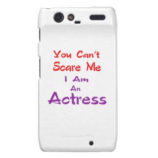 Você não pode susto mim que eu sou uma actriz capa droid RAZR