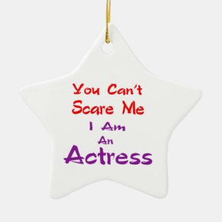 Você não pode susto mim que eu sou uma actriz ornamento de cerâmica estrela