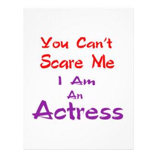 Você não pode susto mim que eu sou uma actriz papel timbrado