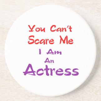 Você não pode susto mim que eu sou uma actriz porta copos de arenito