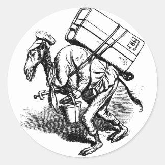 Você não viaja luz - camelo que leva as bolsas adesivo