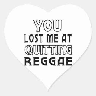 Você perdeu-me em parar a dança da reggae adesivos de corações